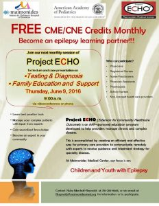 Project ECHO - Testing and Diagnosis/Education & Support @ Webinar